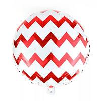 Фольгированный шар Зигзаг красный, 45*45 см