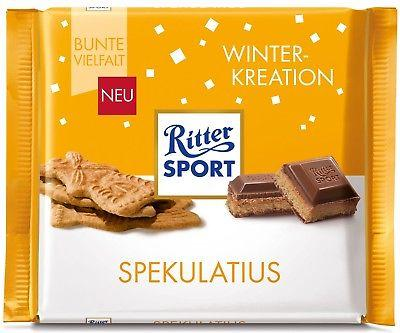Шоколад Ritter Sport Spekulatius- Winter Kreation (с начинкой имбирного печенья и какао-кремa), 100 г