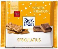Шоколад Ritter Sport Spekulatius- Winter Kreation (с начинкой имбирного печенья и какао-кремa), 100 г, фото 1