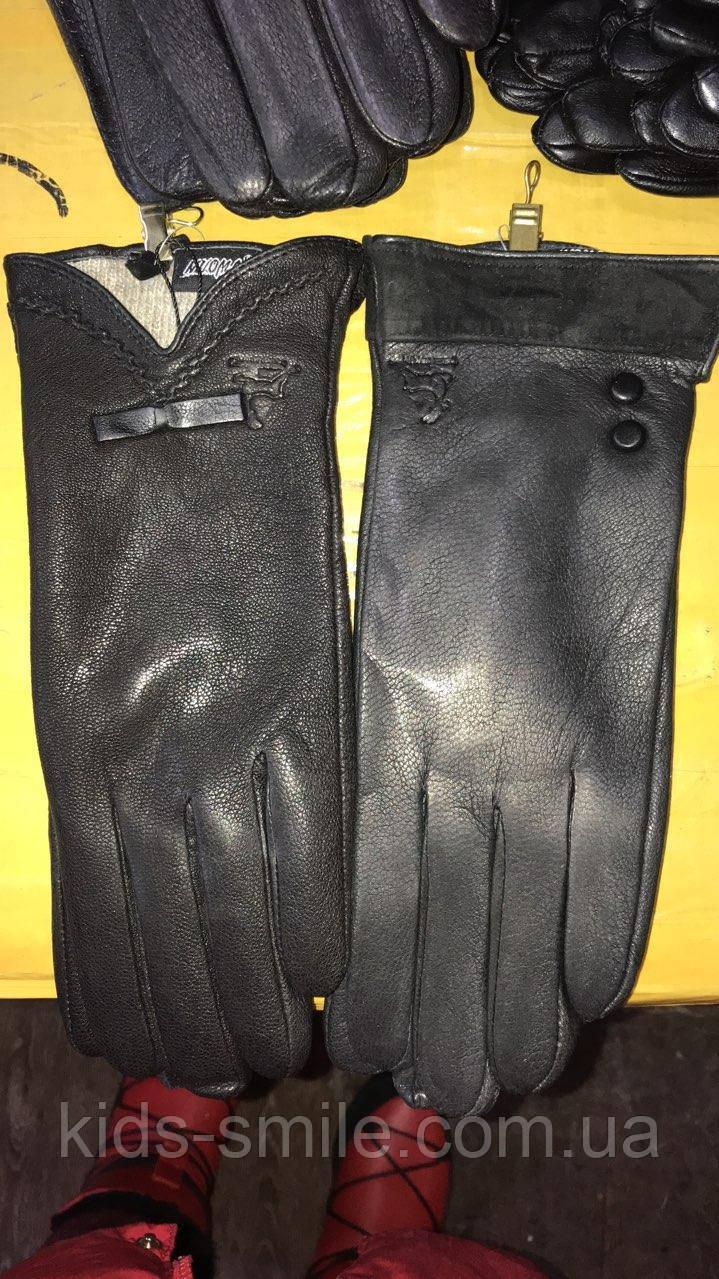 Женские перчатки кожаные ( Олень )
