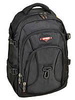 Классический черный рюкзак с боковыми стяжками и карабином Power in Eavas