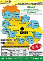 Распространение рекламных материалов по жилым домам и котеджным городкам пригорода Киева