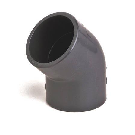 Колено ПВХ Aquaviva 45°/90 мм., фото 2