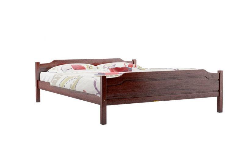 Ліжко двоспальне в спальню з натурального дерева Л-201 Скіф