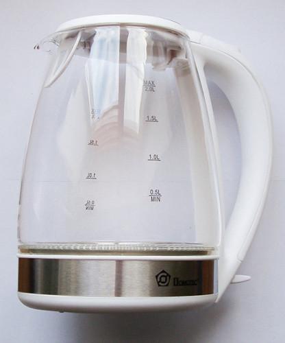 Чайник электрический дисковый Domotec с подсветкой 2.2 л, 2 цвета