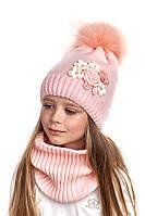 Комплект для девочки шапка и снуд Nikola, фото 1