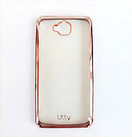 Силиконовый чехол Utty Electroplating TPU на Huawei Y6 Pro Pink