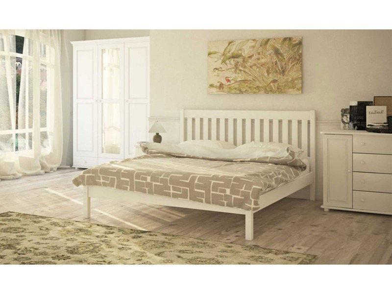 Ліжко двоспальне в спальню з натурального дерева Л-202 Скіф