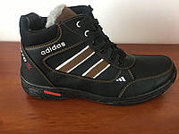 Чоловічі зимові черевики чорні (код 8197), фото 1