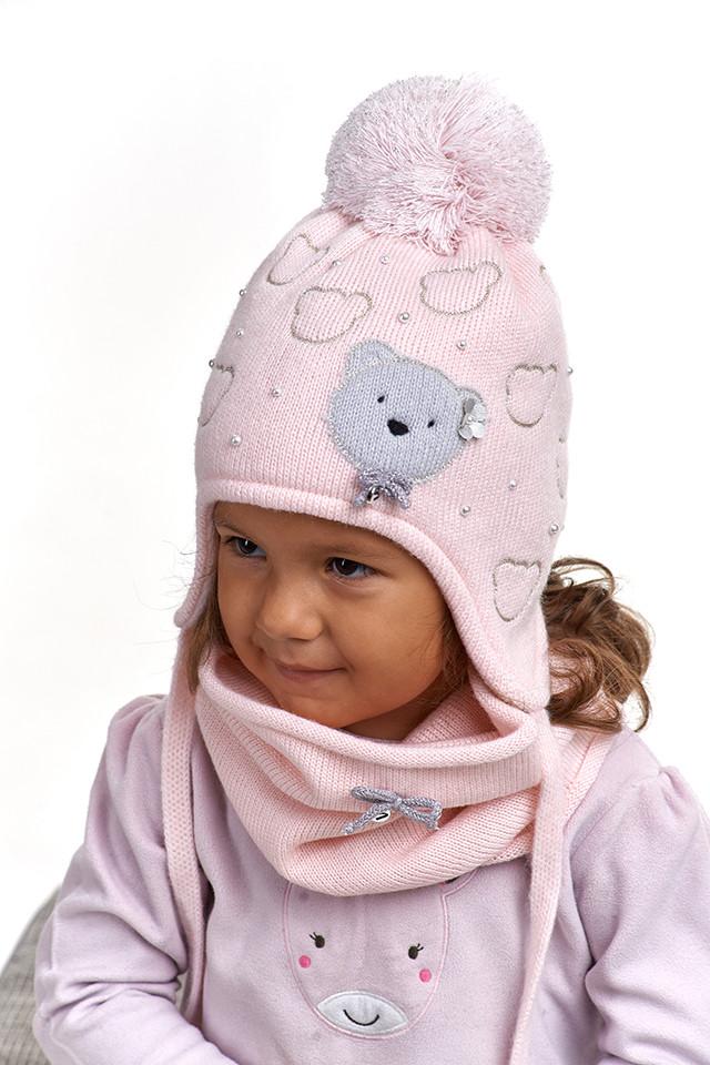 Комплект для девочки шапка и снуд