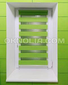 Тканевые ролеты День Ночь DN 207 зеленый, 40*170 см