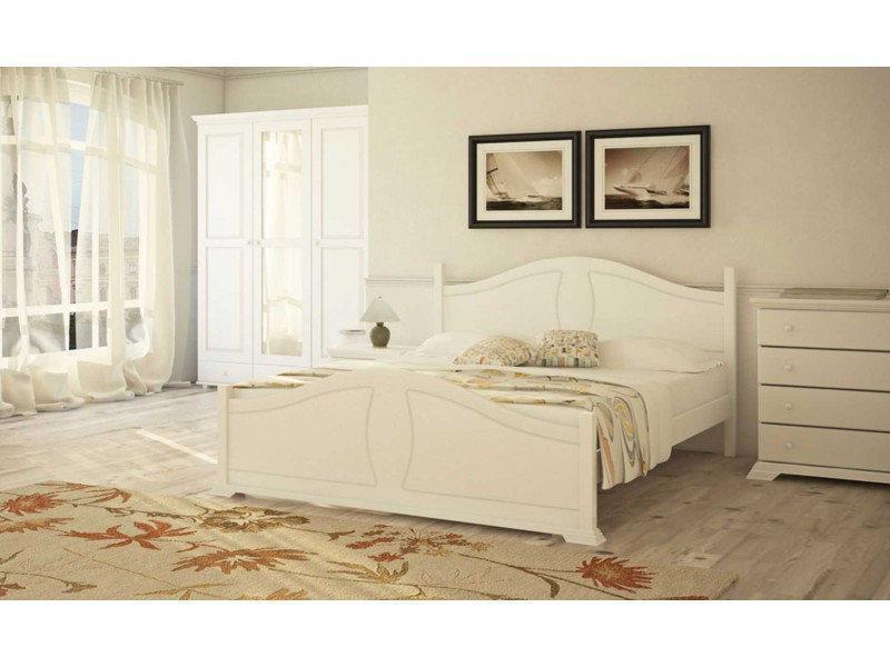 Ліжко двоспальне в спальню з натурального дерева Л-203 Скіф