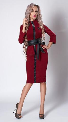 Деловой женский костюм с кожаным поясом, фото 2