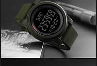Skmei 1257 зеленые мужские спортивные часы