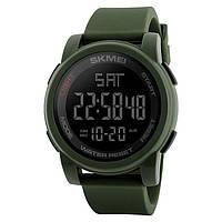 Skmei 1257 зеленые мужские спортивные часы, фото 1