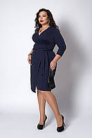 Платье с запахом темно-синее, фото 1