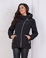 57cf48ec0d7 Куртка зимняя черная на молнии с капюшоном л(42)
