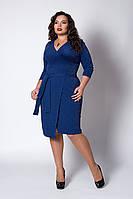 Платье из эластичного трикотажа с люрексом электрик, фото 1
