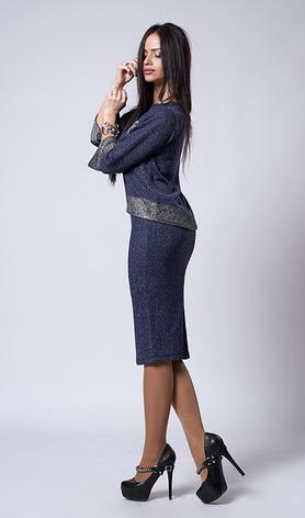 """Красивый костюм """"Фатина"""" размеры 50,52 бежевый, фото 2"""