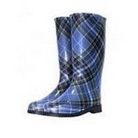 Сапоги резиновые Шотландка синяя размер от 37 до 40