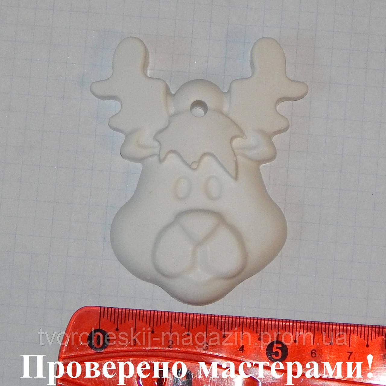 Гипсовая фигурка Олень (елочная игрушка) для раскраски
