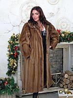 Оригинальная длинная норковая шуба 48 50 размер, фото 1