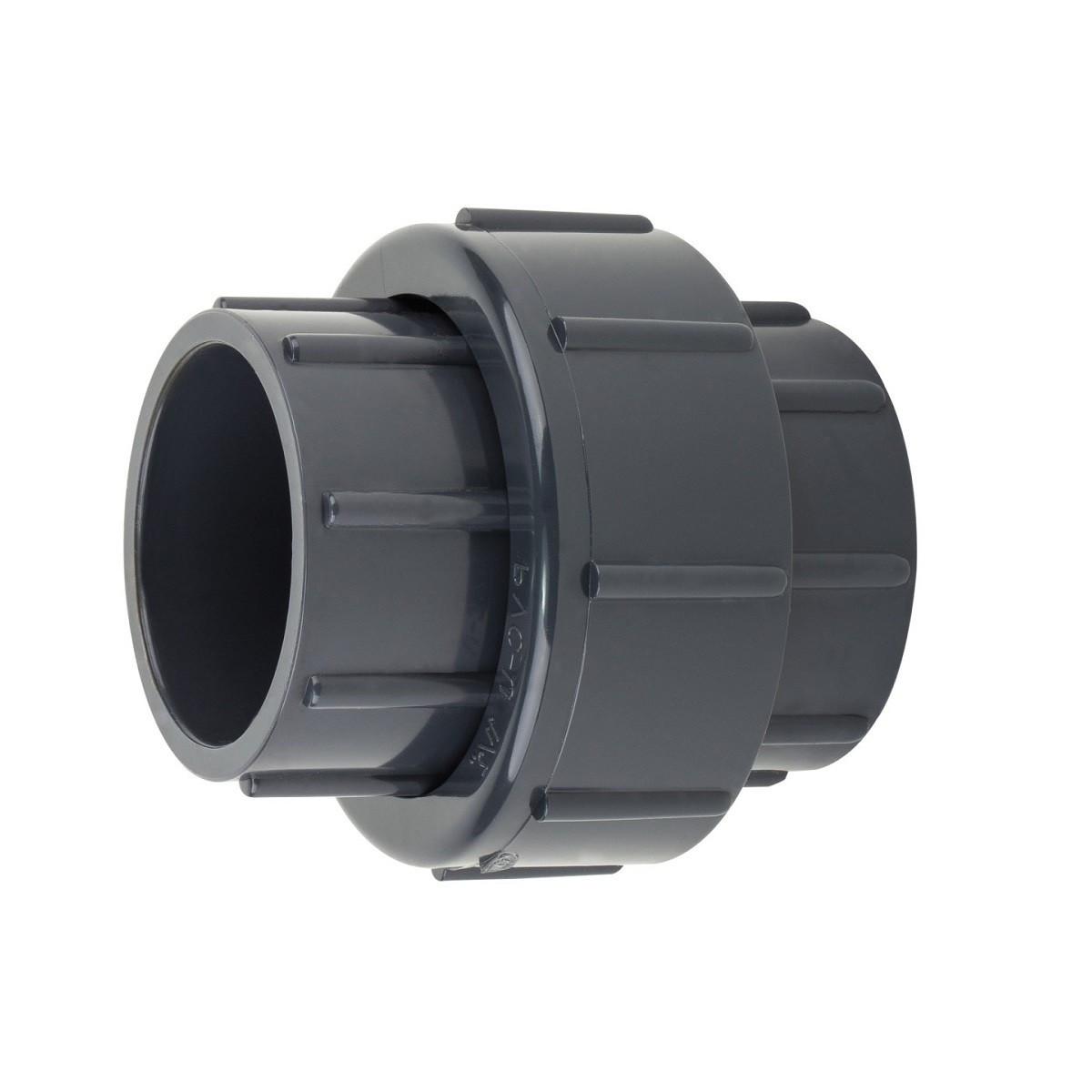 Муфта ПВХ Aquaviva разборная клей-клей, диаметр 50 мм.
