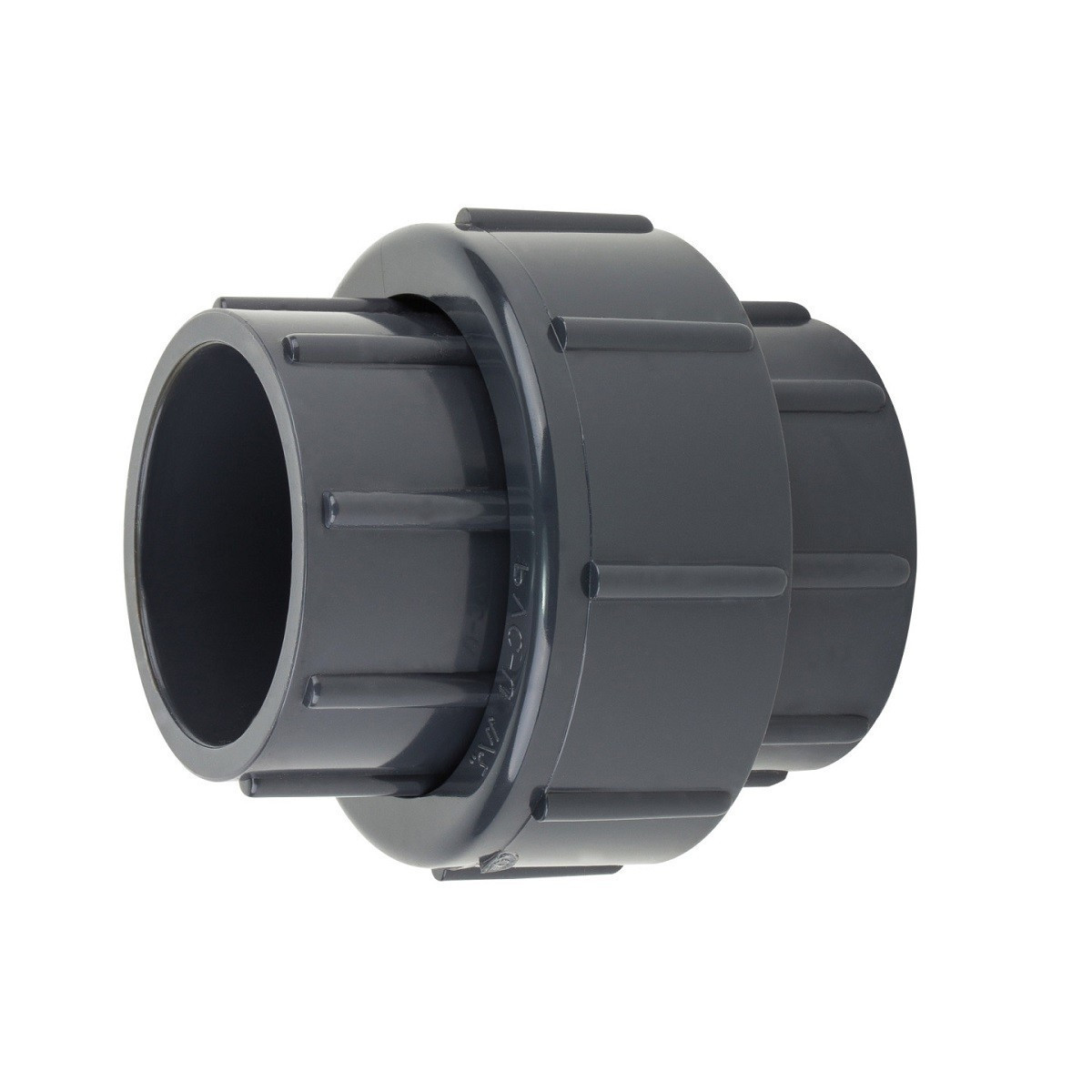 Муфта ПВХ Aquaviva разборная клей-клей, диаметр 75 мм.