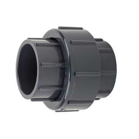 Муфта ПВХ Aquaviva разборная клей-клей, диаметр 75 мм., фото 2