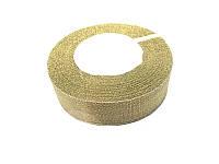 Лента парча золото 2,5 см шир. 22 м  в рулоне