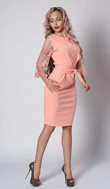 """Платье """"Кристина"""" размеры 54 абрикос"""