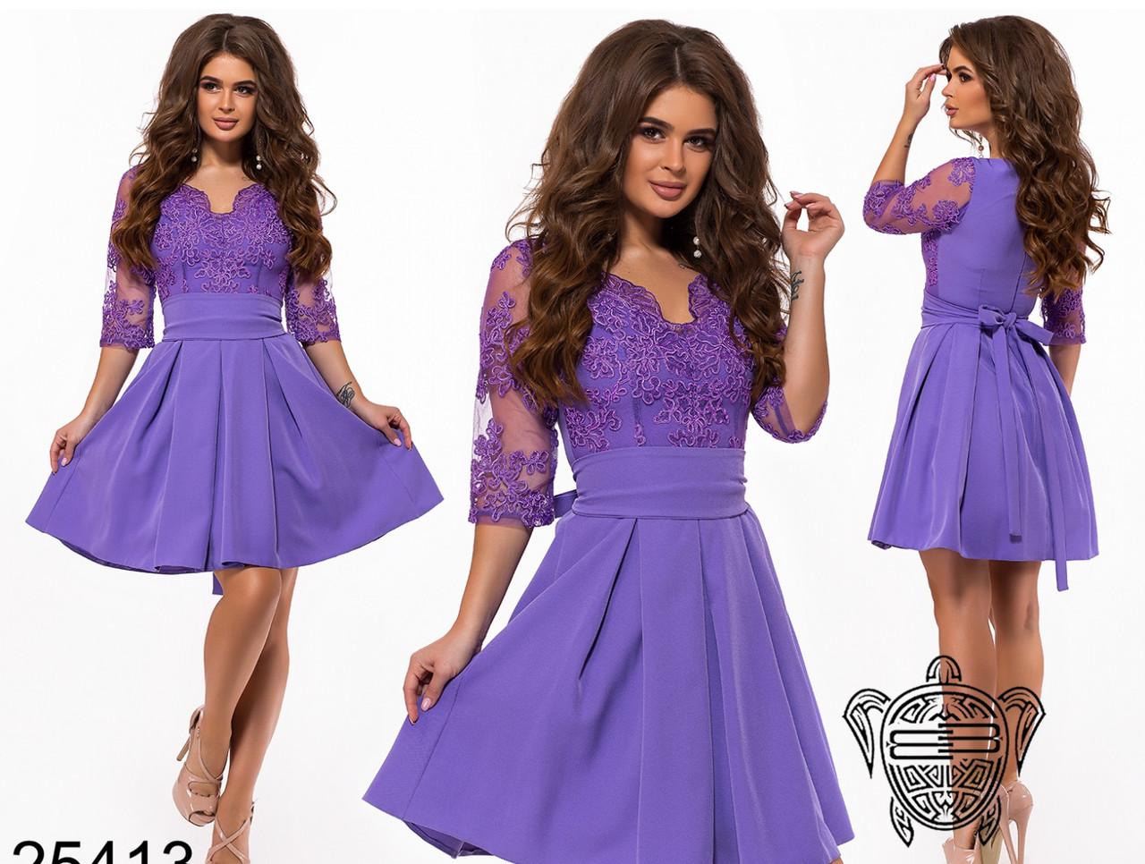 095d92f3b9d Вечернее короткое платье с пышной юбкой и верхом из сетки с вышивкой  (разные цвета)