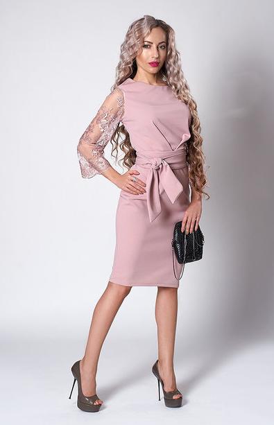 "Платье ""Кристина"" размеры 54 розовый кварц"