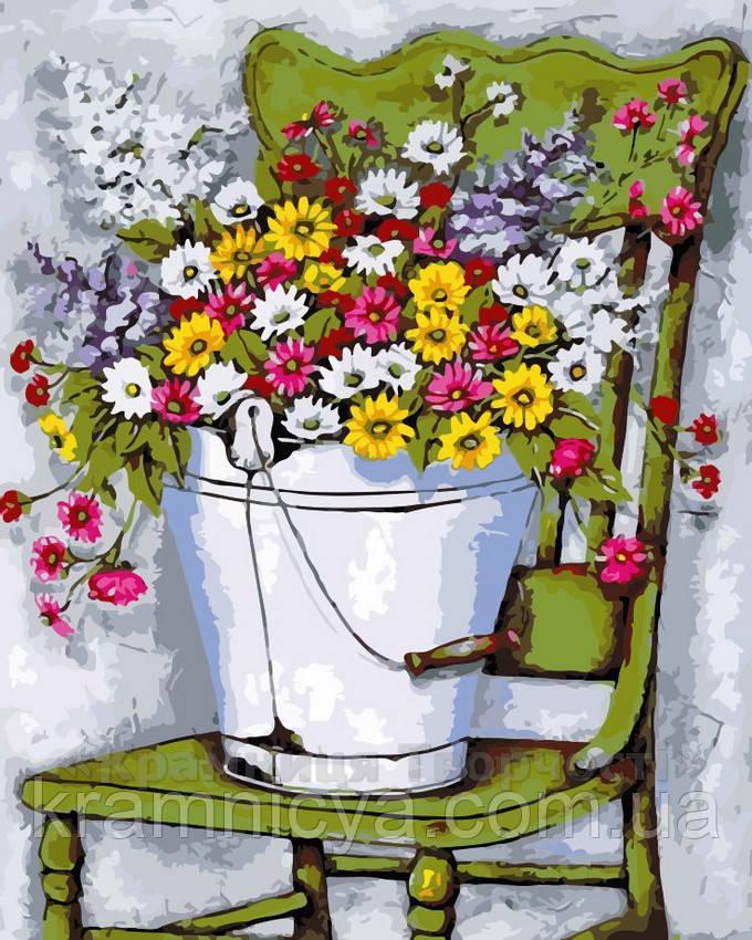 Живопись по номерам 40x50 Полевые цветы