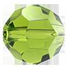Круглые хрустальные бусины Preciosa (Чехия) 5 мм Olivine