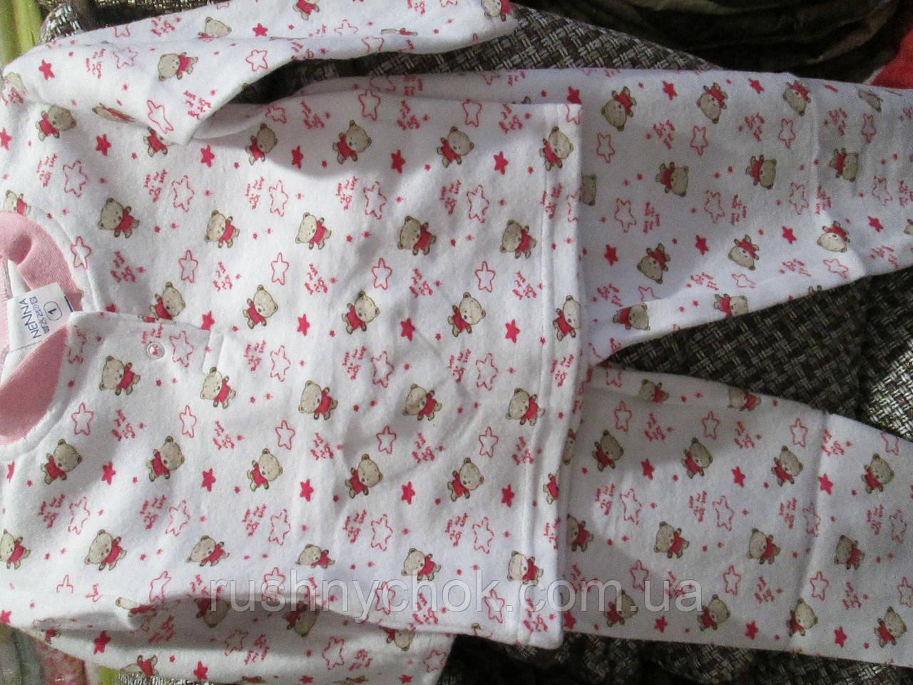 Пижама детская с 1 до 3 лет