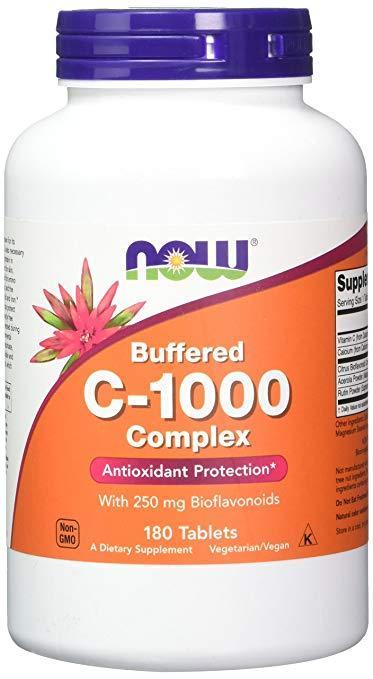 Витамины NOW C-1000 Complex 180 tabs, НАУ С-1000 Комплекс 180 таб