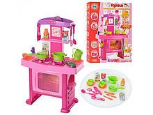 Кухня детская розовая. Свет, муз.