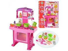 Кухня детская розовая. Свет, муз. В коробке