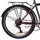 Городской велосипед Discovery Prestige Man 26 дюймов черно-оранжевый, фото 3