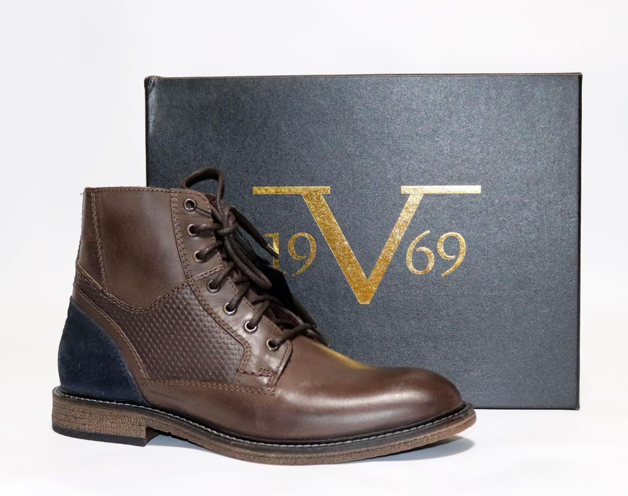 Мужские Зимние Ботинки Versace Оригинал Италия Натуральная Кожа 45 ... 03312f436048f