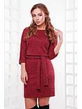 """Тёплое женское платье из ангоры с поясом """"Белли"""", фото 2"""