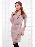 """Тёплое женское платье из ангоры с поясом """"Белли"""", фото 3"""