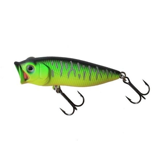 Воблер NOMURA Bubble Popper 45мм 4.5гр. Mat Green Tiger-067