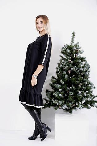 8b2379f678f Трикотажное черное платье больших размеров 0987  685 грн. Купить в ...