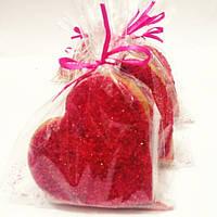 """Подарок на День Влюблённых, подарок ко дню св. Валентина-  медово-имбирный пряник """"Сердце в сахаре"""""""