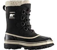 Женские ботинки Sorel Caribou Black/Stone