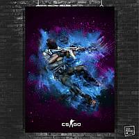 Постер Counter-Strike, CS:GO, Контрстрайк, киберспорт, КС, контра. Размер 60x42см (A2). Глянцевая бумага