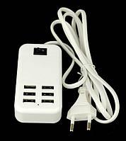 Зарядний на 6 usb, 6A 30W з кнопкою вимикання SKU0000132, фото 1