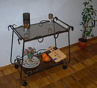 Кованый сервировочный столик